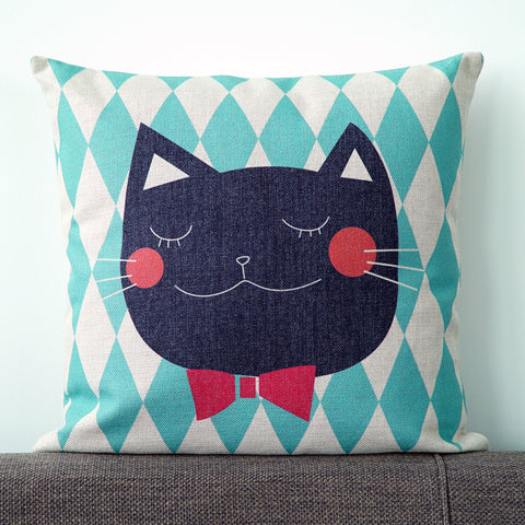 Bowtie Cat Cushion