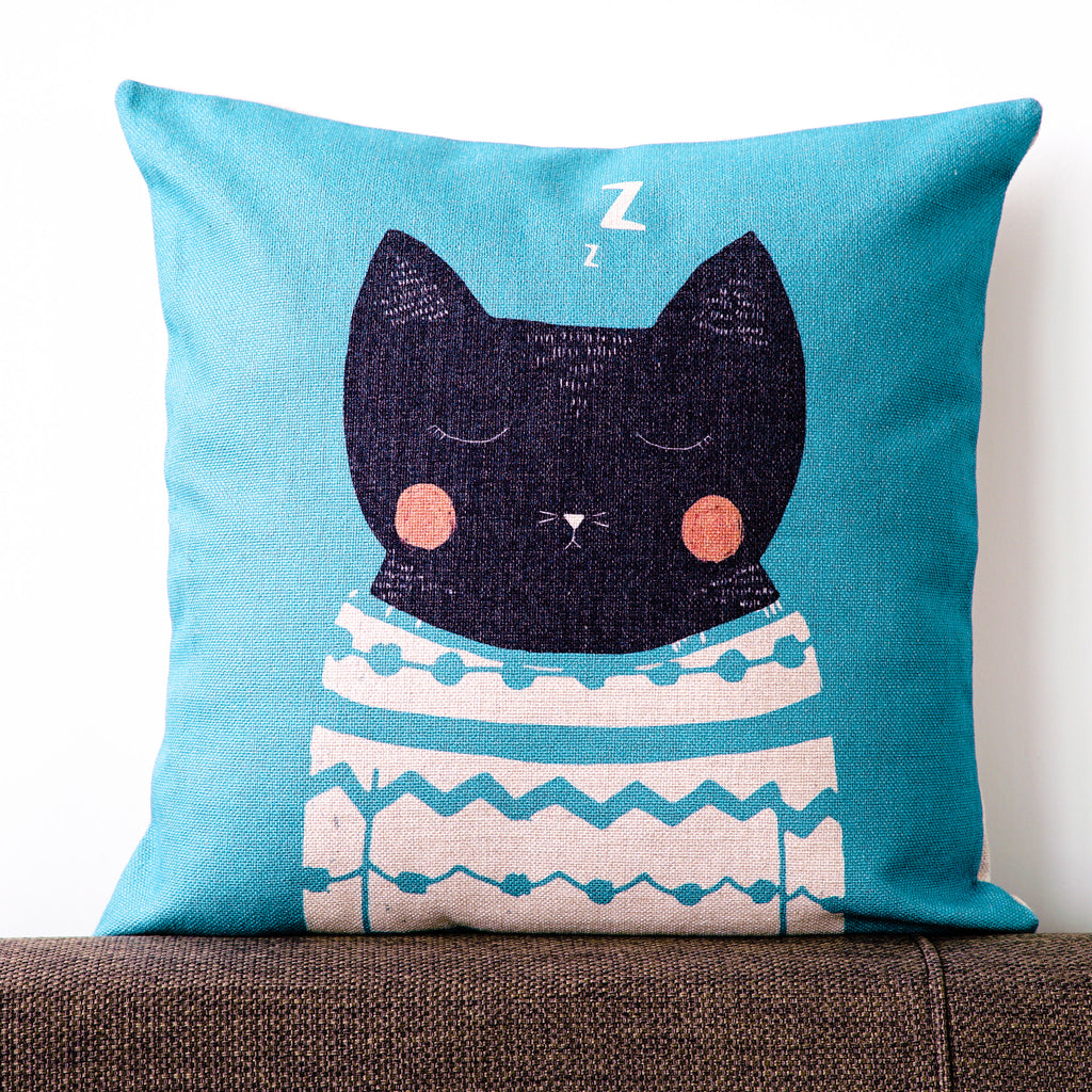 Sleepy Cat Cushion