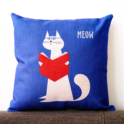 Reading Cat Cushion