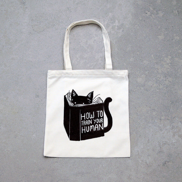 """How To Train Your Human"" Tote Bag - White"