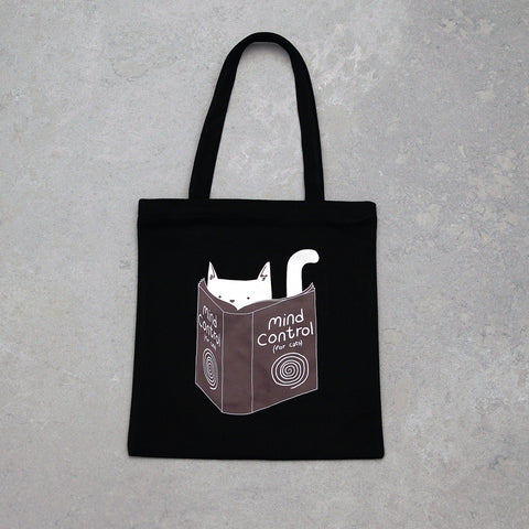 """Mind Control"" Tote Bag - Black"
