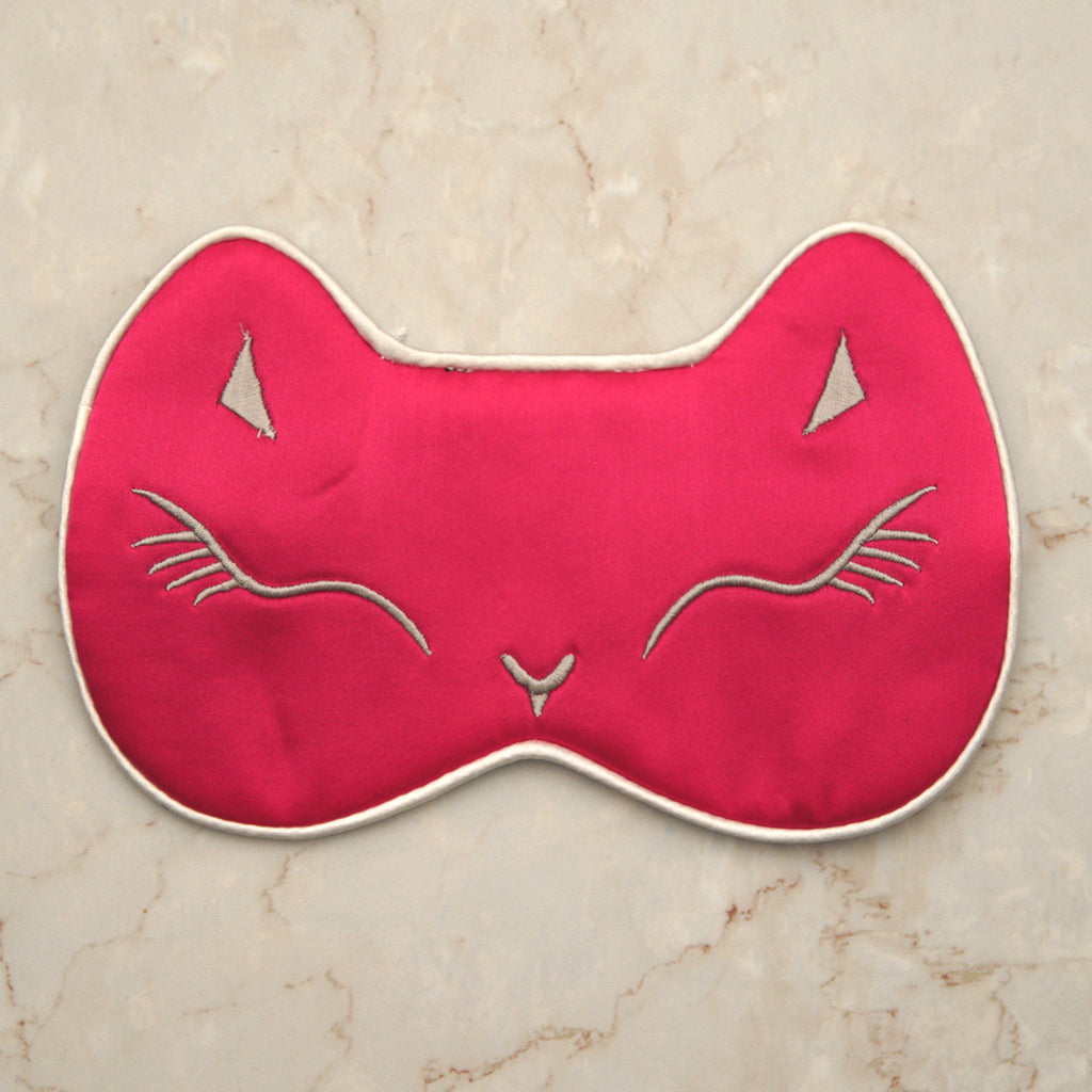 Sleeping Cat Mask - Pink