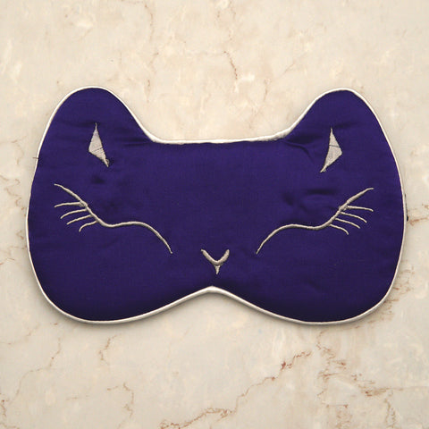 Sleeping Cat Mask - Violet