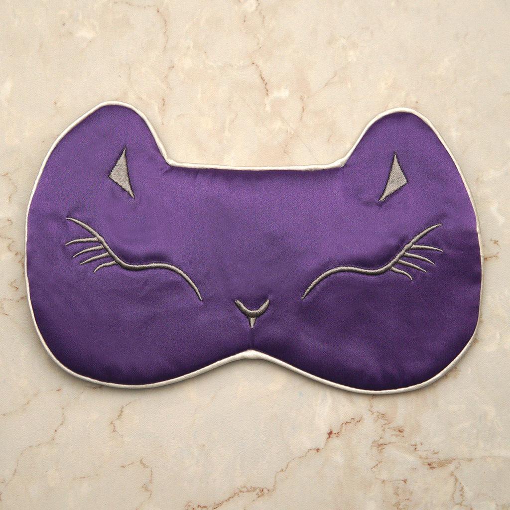 Sleeping Cat Mask - Royal Purple