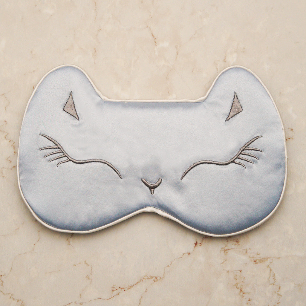 Sleeping Cat Mask - Icy Blue
