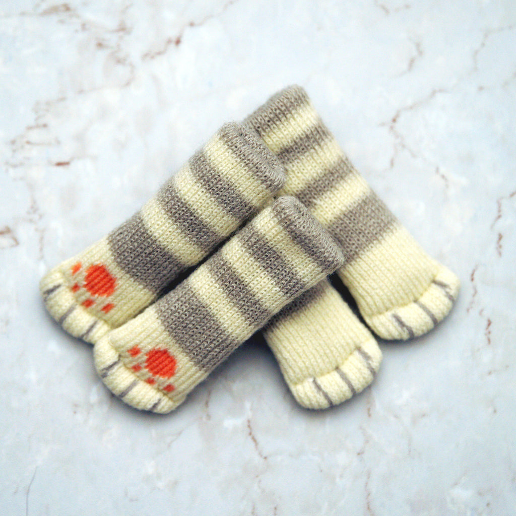 Chair socks - Grey Stripes