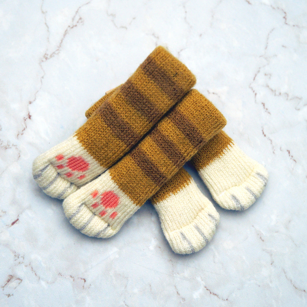 Chair socks - Brown Stripes