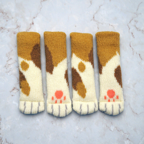 Chair socks - Brown Patches