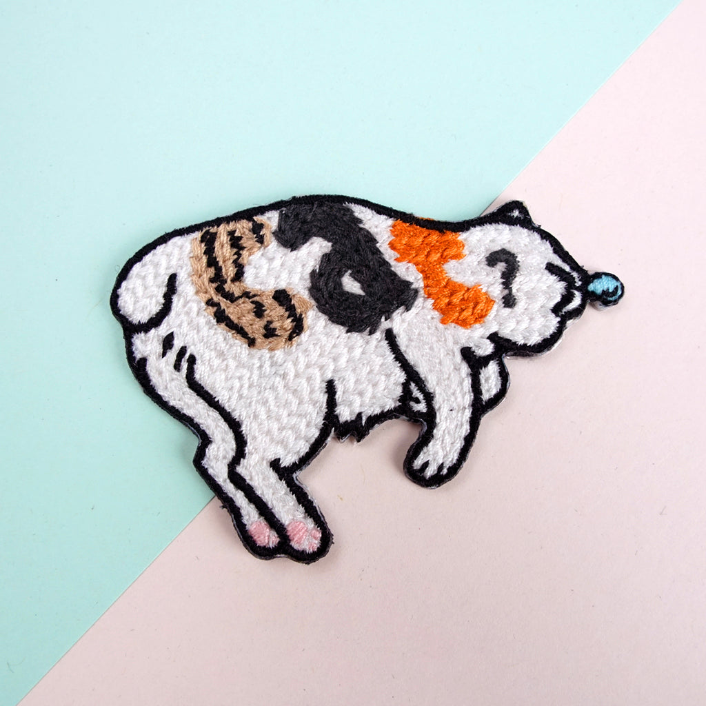 Snoring Cat Iron-on Patch