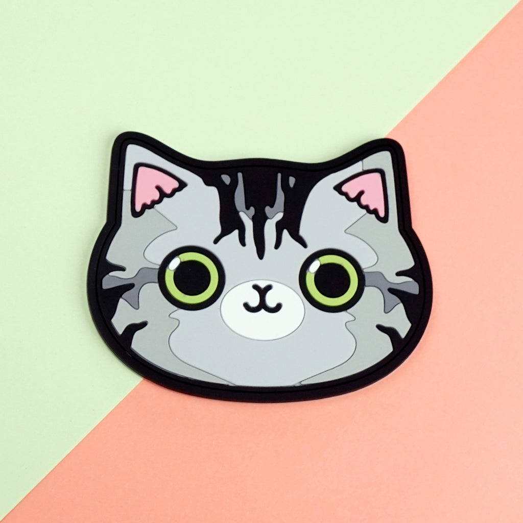 Coaster - Grey Patches Cat