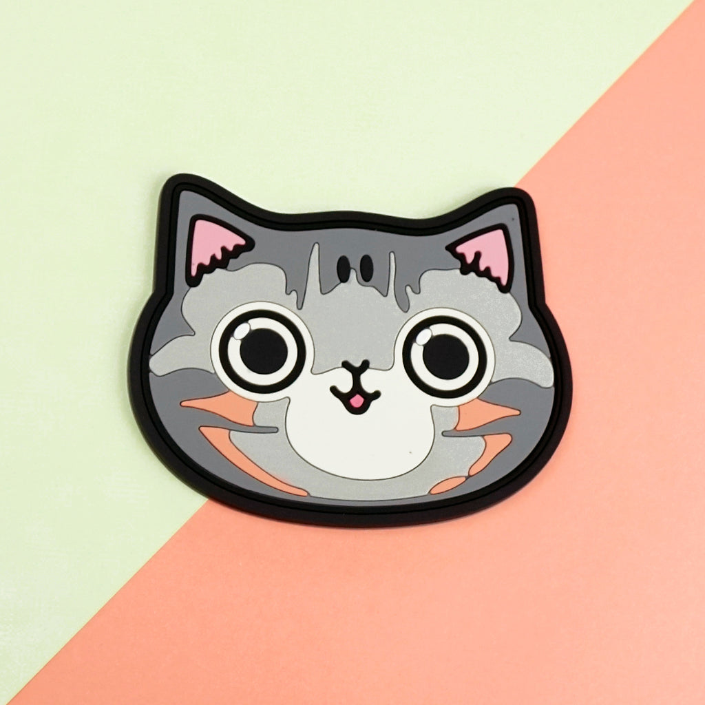 Coaster - Grey Tabby Cat