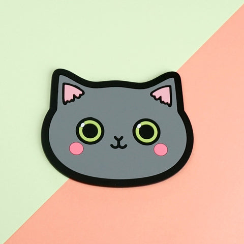 Coaster - Grey Cat