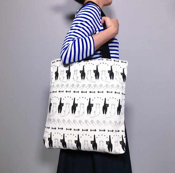 Cats'n'Paws'n'Fishbones Tote Bag