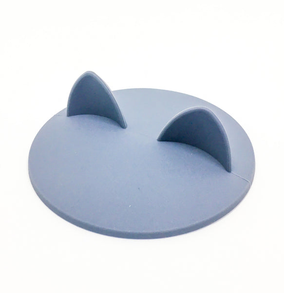 Cat Ears Cup Lid - Grey