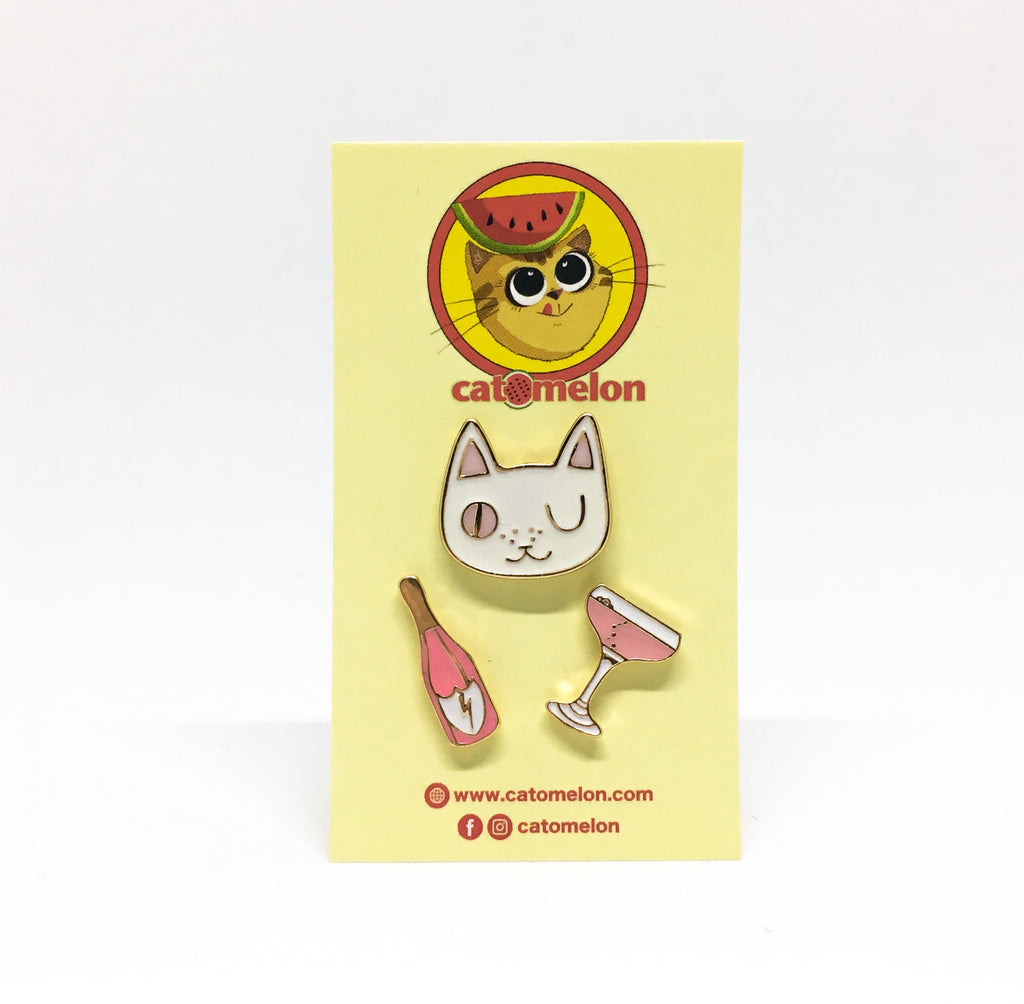 Cats Night Out Pin Set