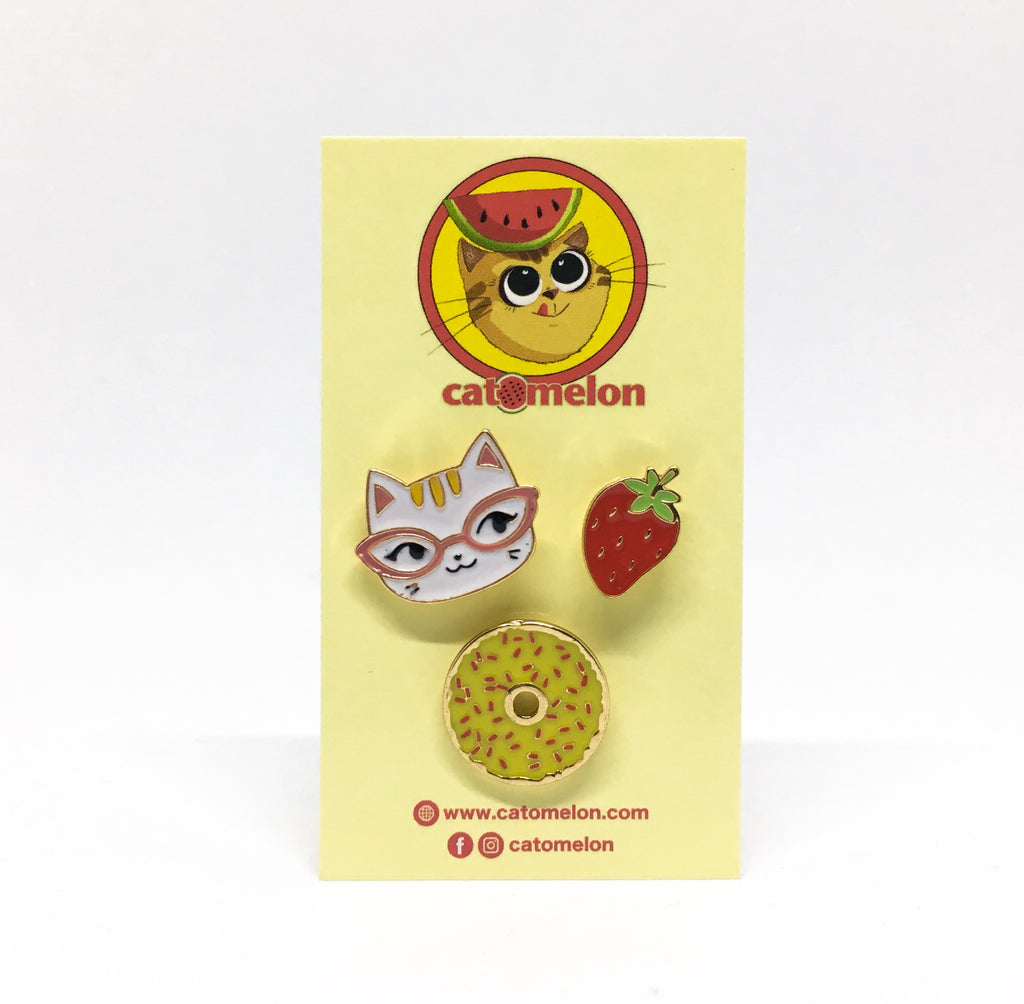 Snack Time Pin Set