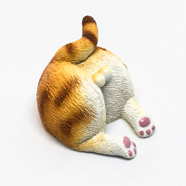 Cat Bum Magnet - Orange stripes