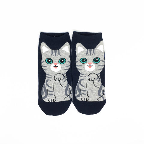 Cat Breed Ankle Socks - American Shorthair