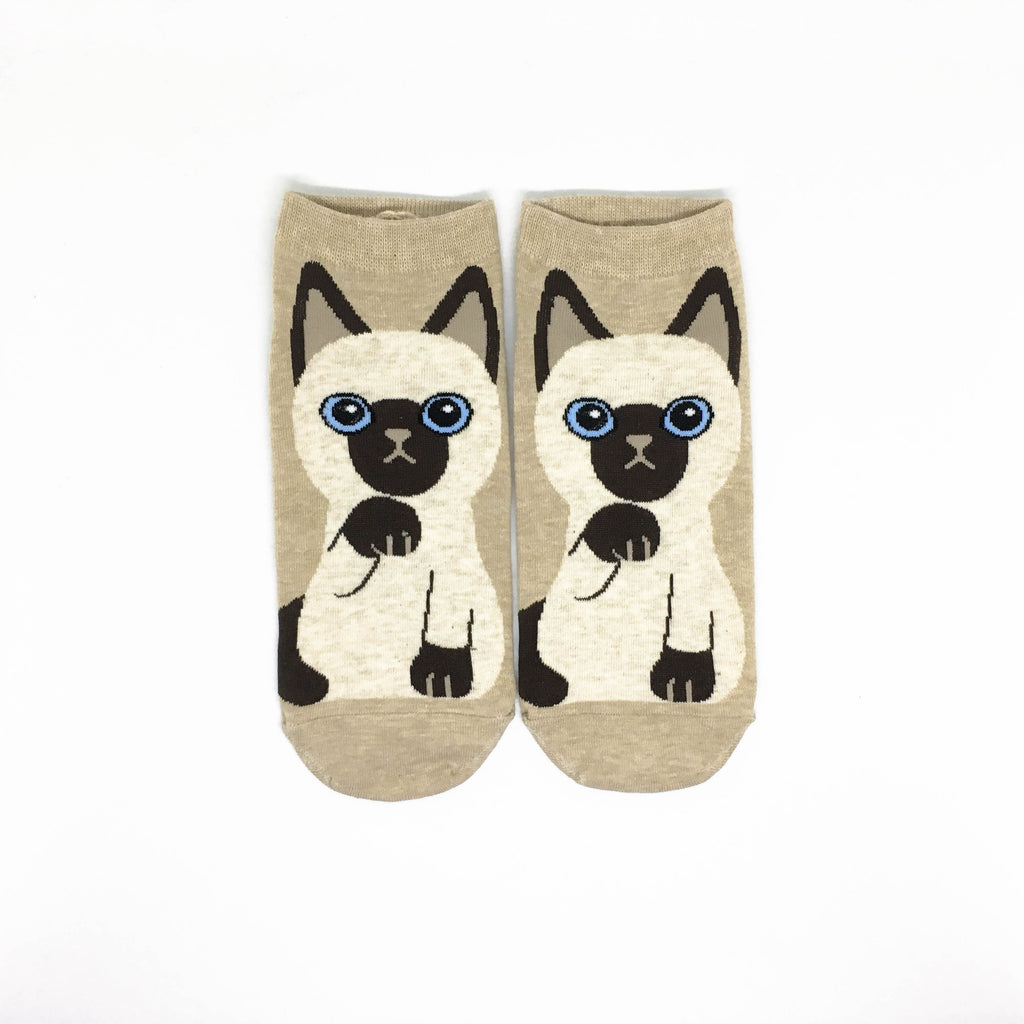 Cat Breed Ankle Socks - Siamese