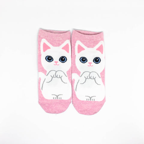 Cat Breed Ankle Socks - Turkish Angora