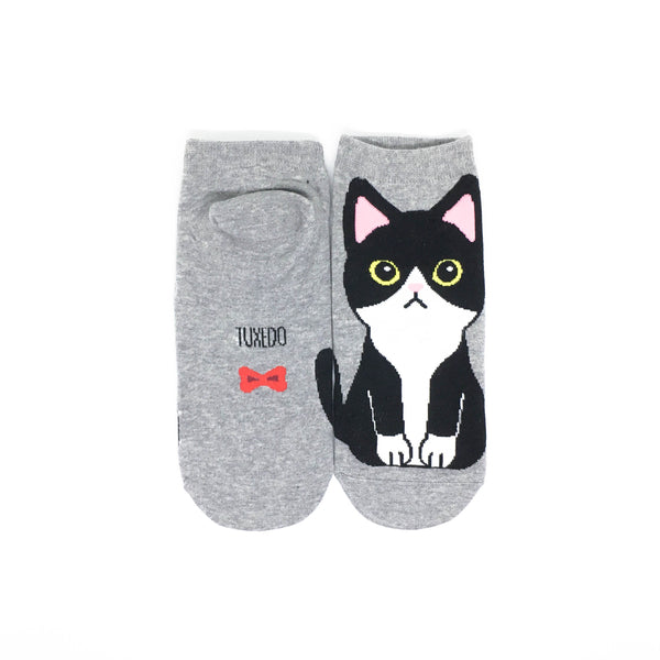 Cat Breed Ankle Socks - Tuxedo