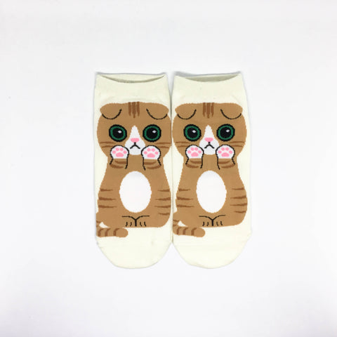 Cat Breed Ankle Socks - Scottish Fold