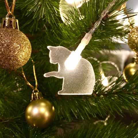 LED Decorative Cat Lights - Paws Down