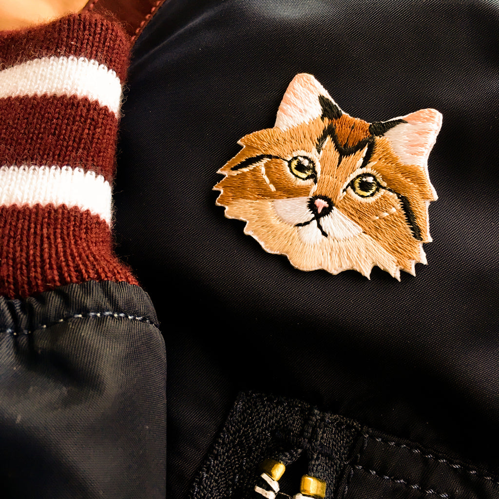 Cat Face - Furry Cat Iron-on Patch