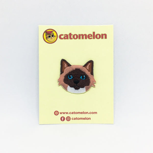 Cat Face - Siamese Cat Iron-on Patch