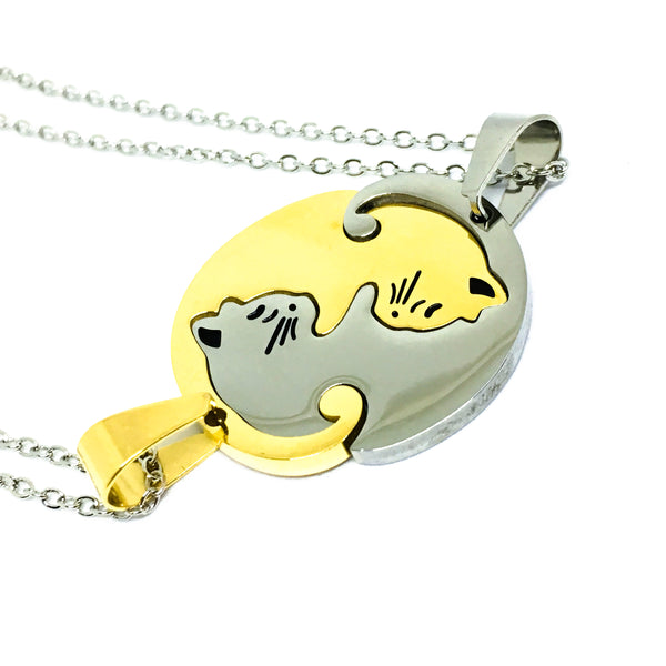 Cat BFFs Necklace Set