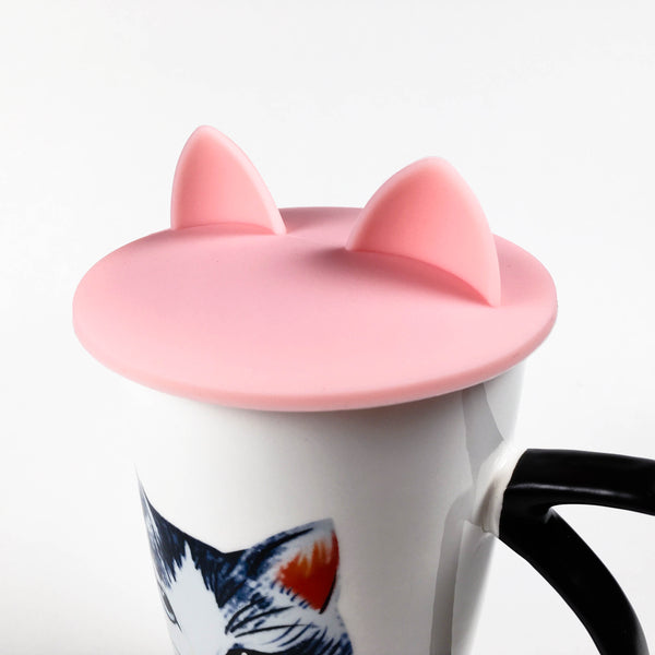 Cat Ears Cup Lid - Cotton Candy