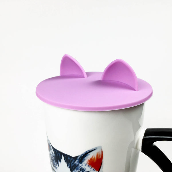 Cat Ears Cup Lid - Lavender