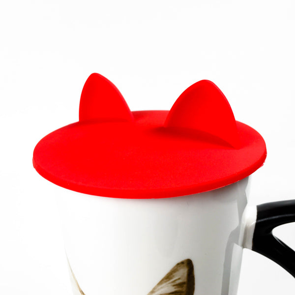 Cat Ears Cup Lid - Cherry Red