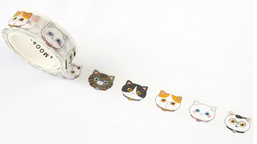 Cat Face Washi Tape