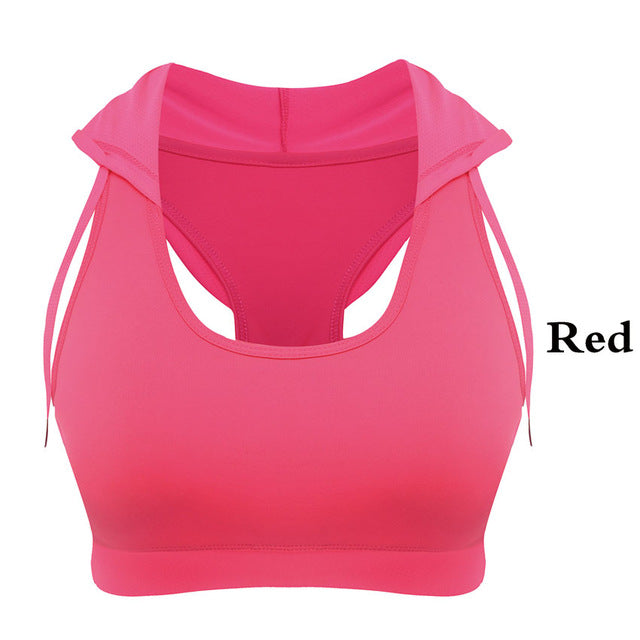 HEAL ORANGE Women's Yoga Padded Sports Bra