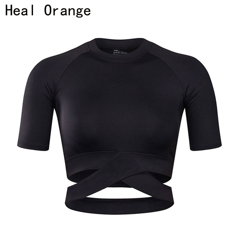 HEAL ORANGE Women's Yoga Sports Top
