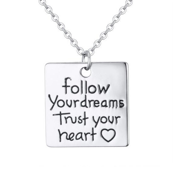 Trust Your Heart Charm Pendant