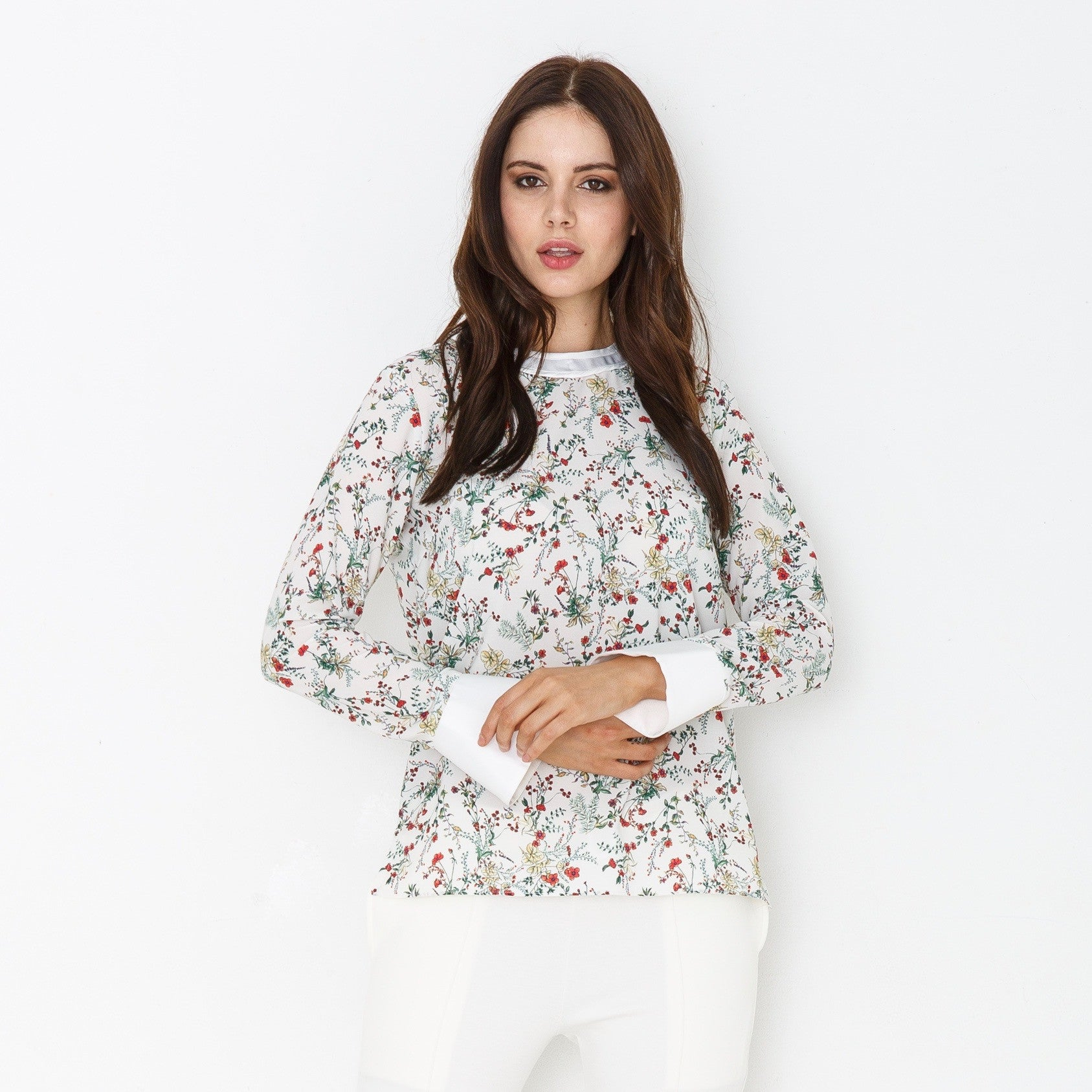 White flowers top