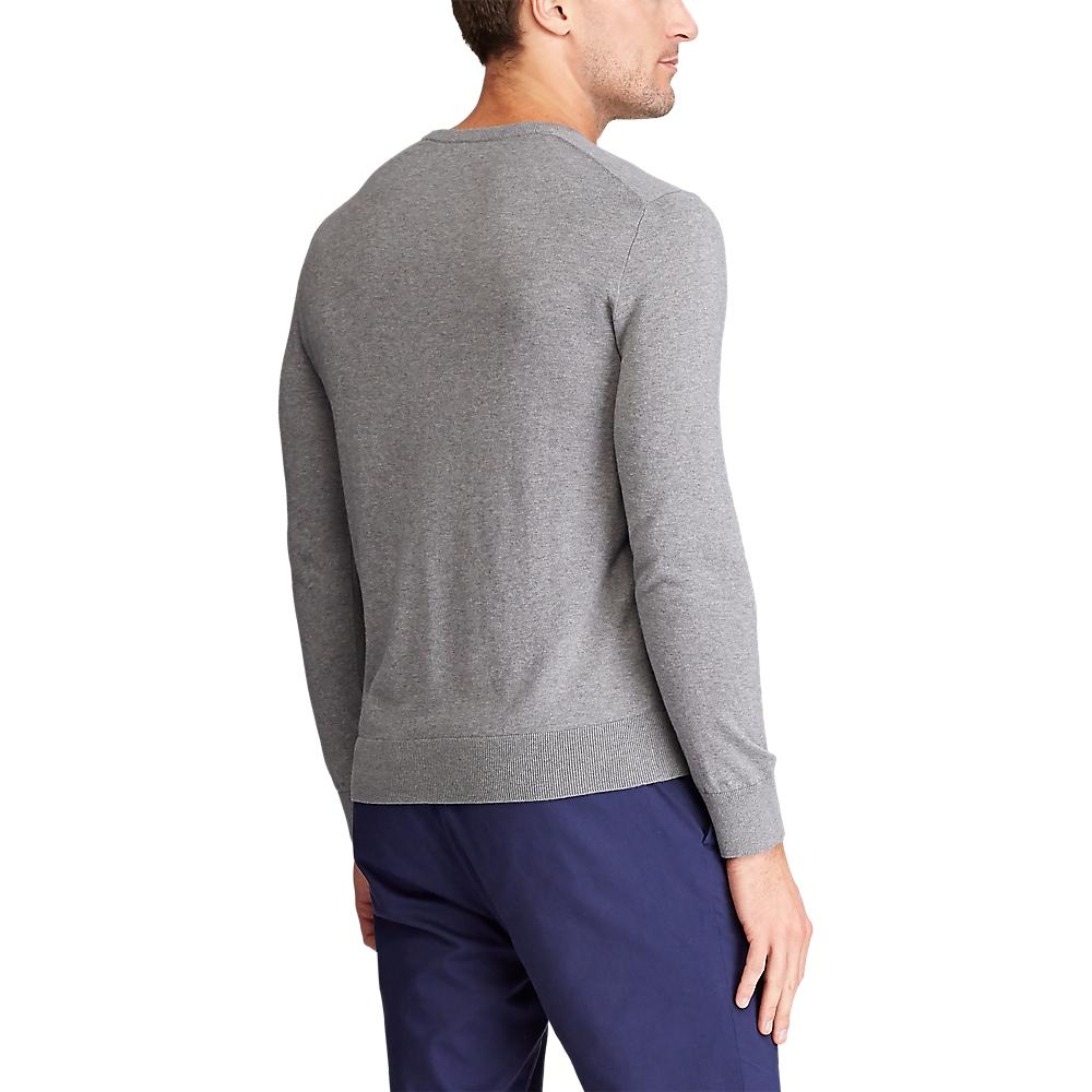 Polo Golf Ralph Lauren Cotton Crew Neck Sweater - Boulder Grey Heather