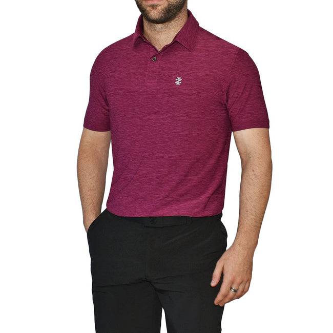 IZOD Title Holder Golf Shirt - Purple Potion