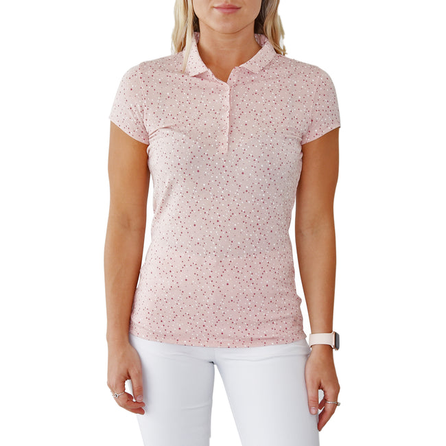 Puma Women's Speckle Golf Polo Shirt - Peachskin