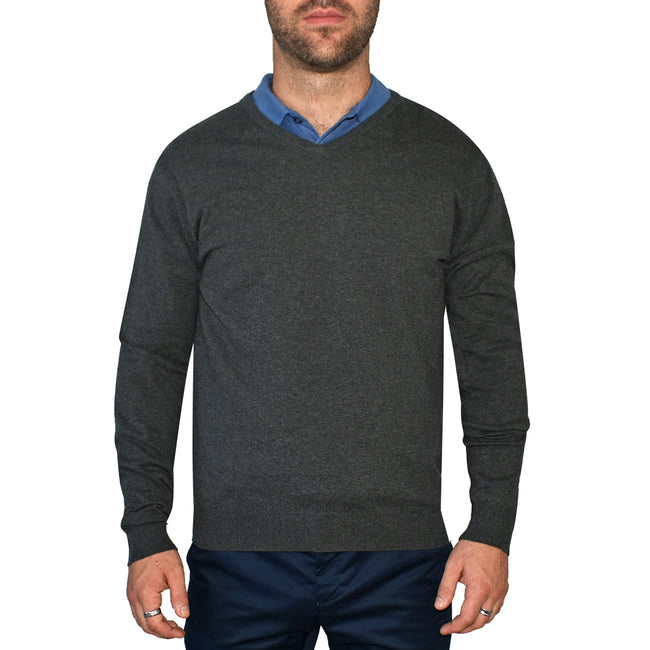 Cross Classic V-Neck - Charcoal