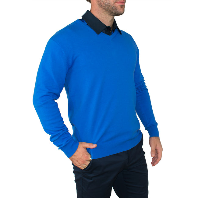 Cross Classic V-Neck - Royal Blue