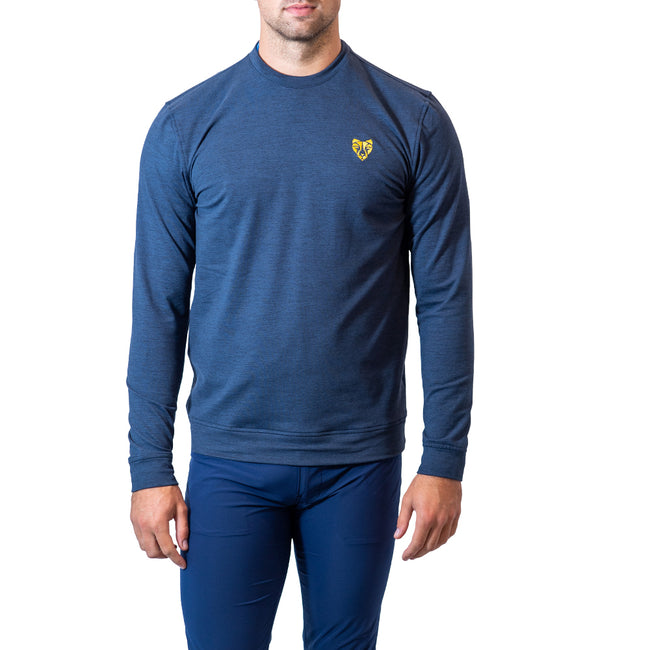 Puma Cloudspun Golden Crewneck Jumper - Navy Blazer Roar