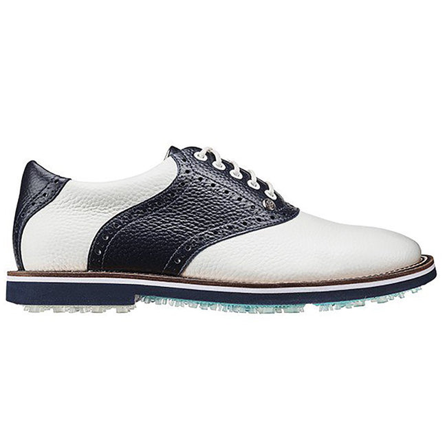 G/Fore Saddle Gallivanter Wide Golf Shoes - Snow/twlight