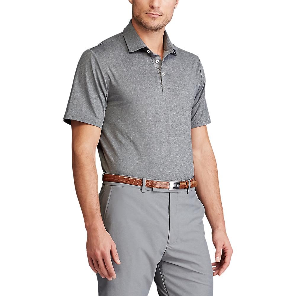 RLX Ralph Lauren Solid Airflow Performance Polo - Boulder Grey