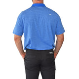 KJUS Luca Polo Golf Shirt - Bermudas Blue Melange