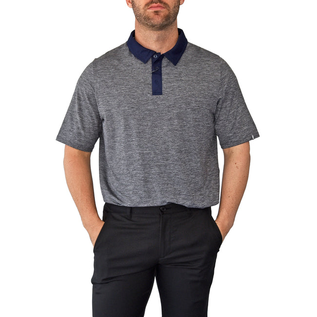 KJUS Luca Polo Golf Shirt - Steel Grey Melange