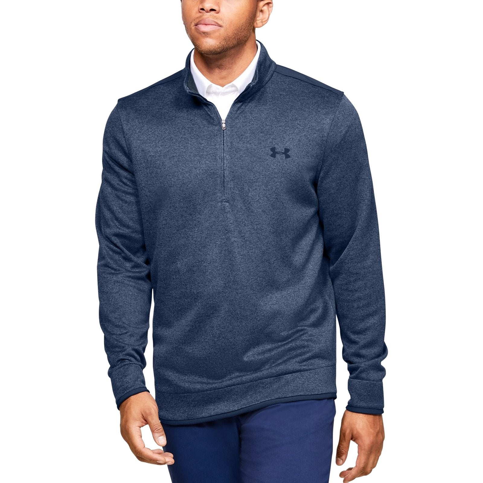 Under Armour SweaterFleece ½ Zip - Blue Ink