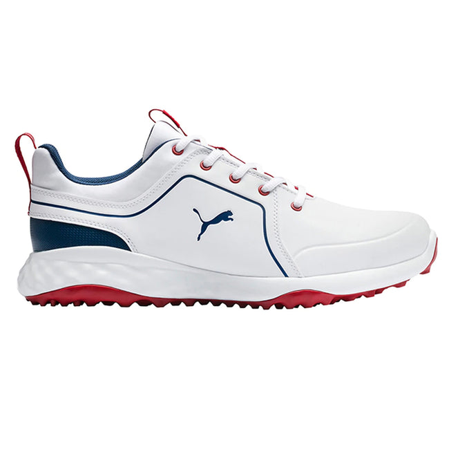 Puma Grip Fusion 2.0 Golf Shoes - Puma White/Dark Denim
